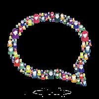 A speech bubble